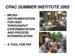 cpac summer institute 2005