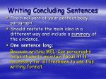 writing concluding sentences