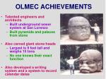 olmec achievements