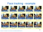 face tracking example