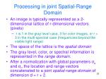 processing in joint spatial range domain
