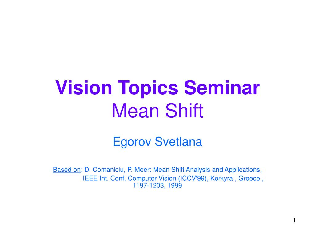 vision topics seminar mean shift l.