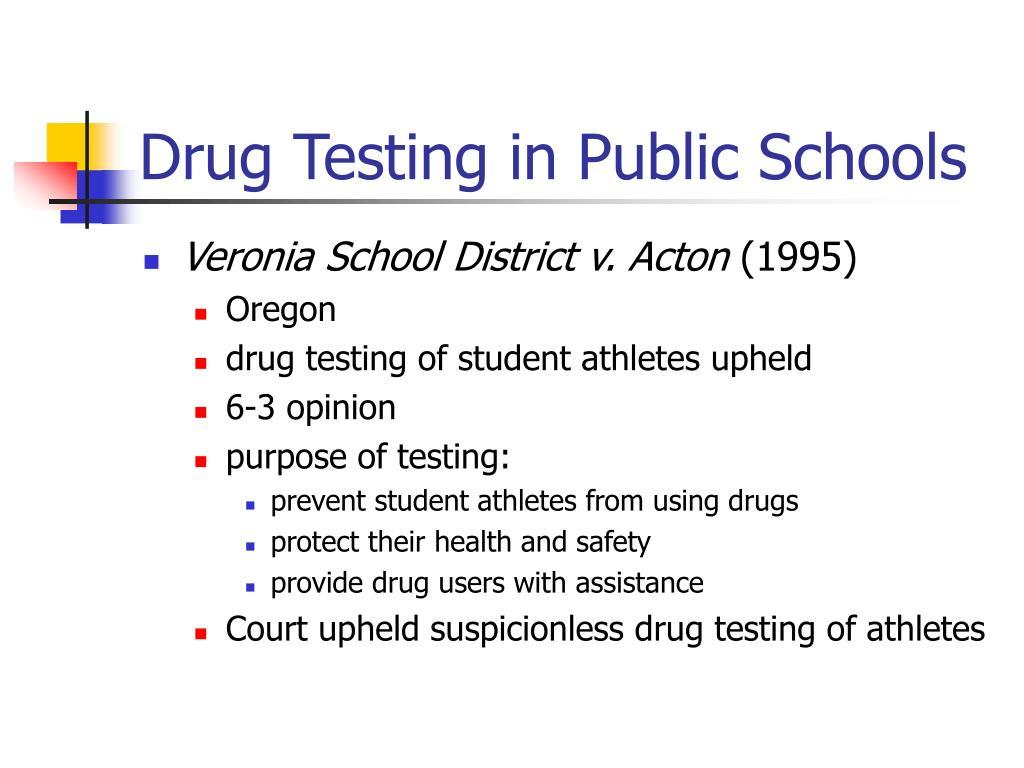 Drug Testing in Public Schools