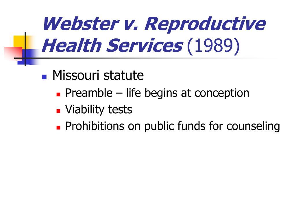 Webster v. Reproductive Health Services