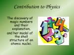 contribution to physics