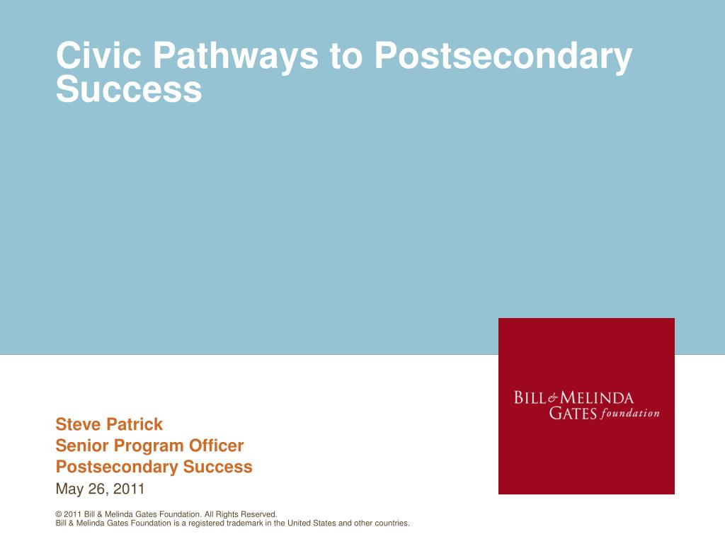 civic pathways to postsecondary success l.