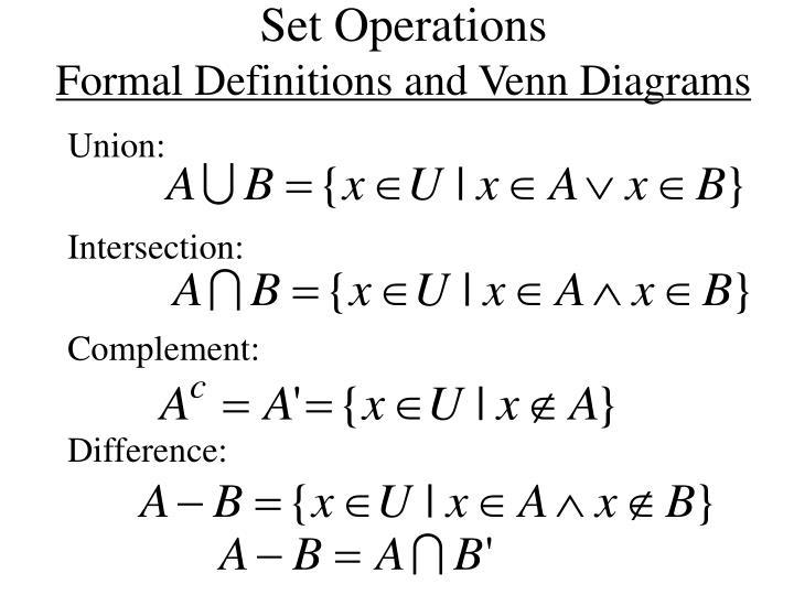 Set Operations