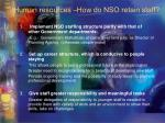 human resources how do nso retain staff