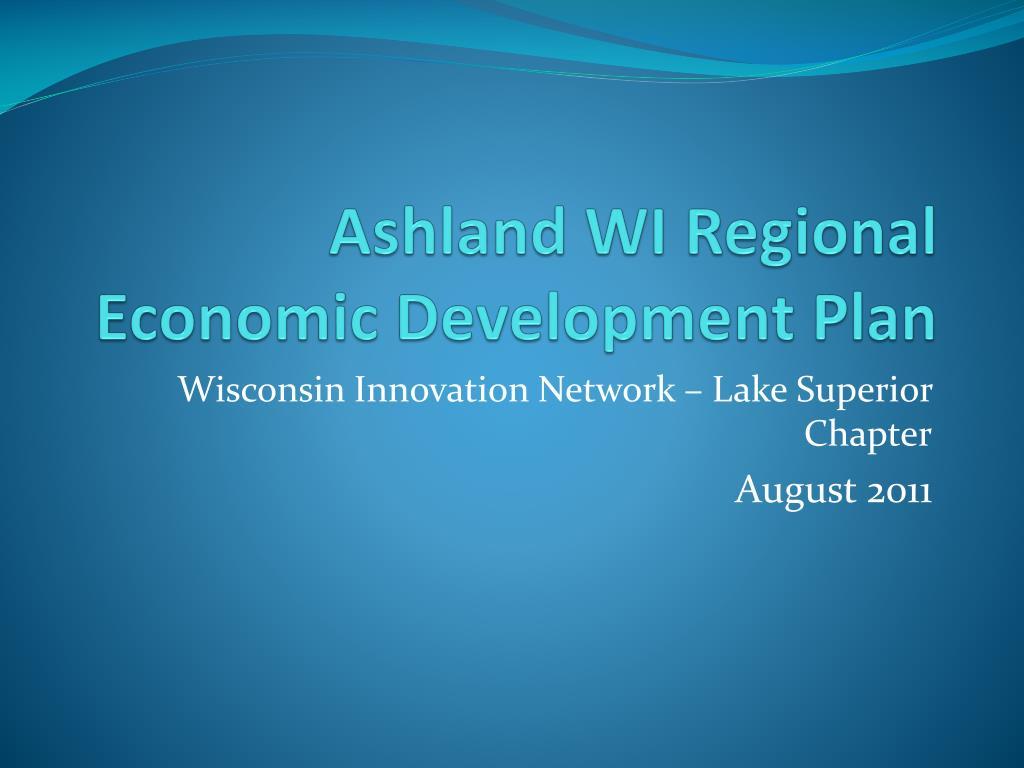 ashland wi regional economic development plan l.