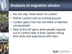 analysis of migration shows