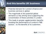 and this benefits uk business