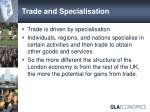 trade and specialisation