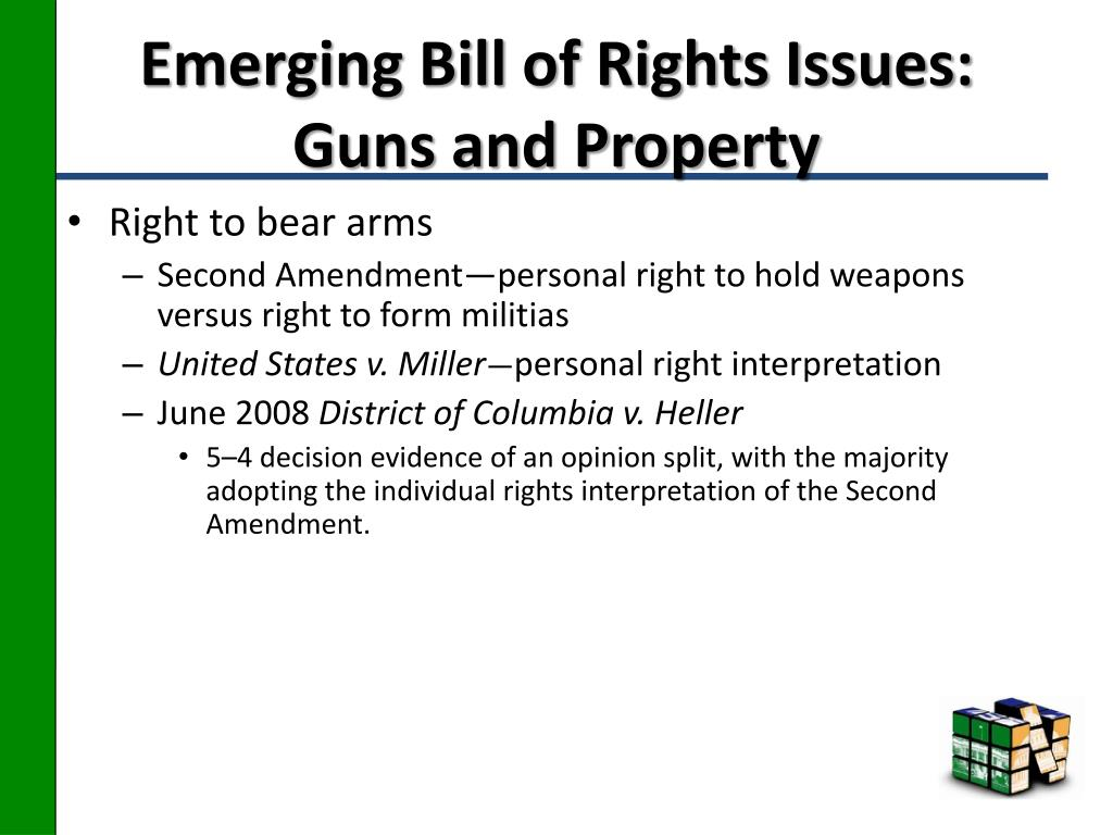 Emerging Bill of Rights Issues: Guns and Property