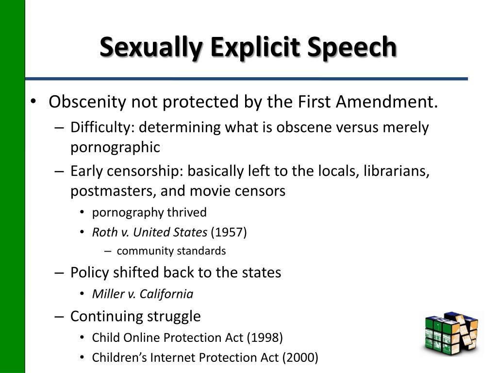 Sexually Explicit Speech