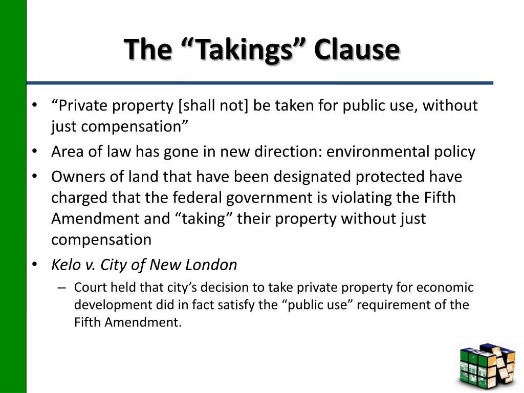 """The """"Takings"""" Clause"""