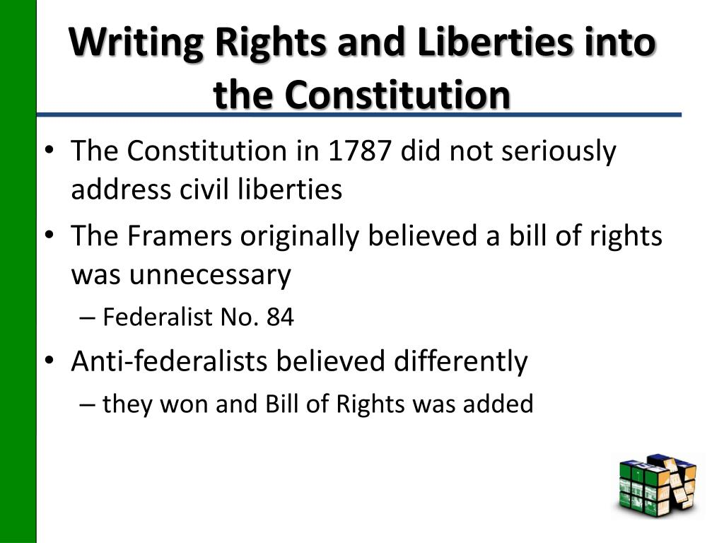 Writing Rights and Liberties into the Constitution