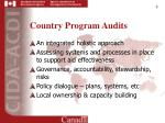 country program audits