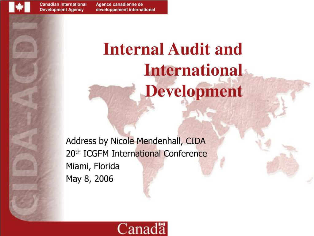 internal audit and international development l.