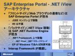 sap enterprise portal net iview