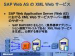 sap web as xml web