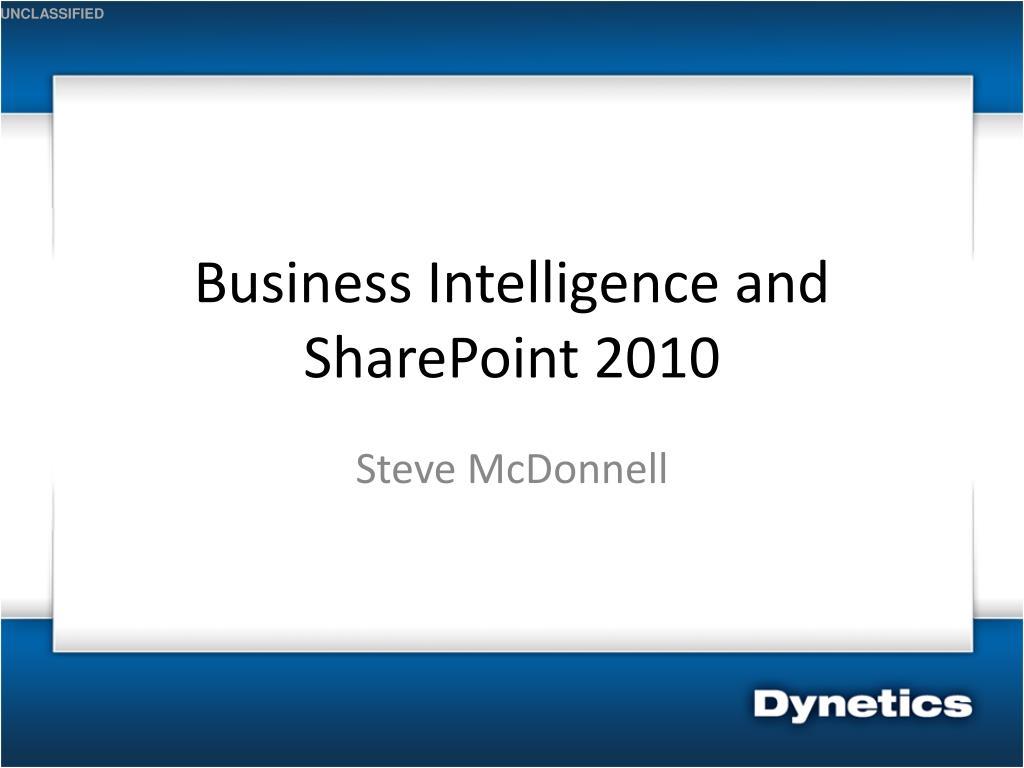 business intelligence and sharepoint 2010 l.