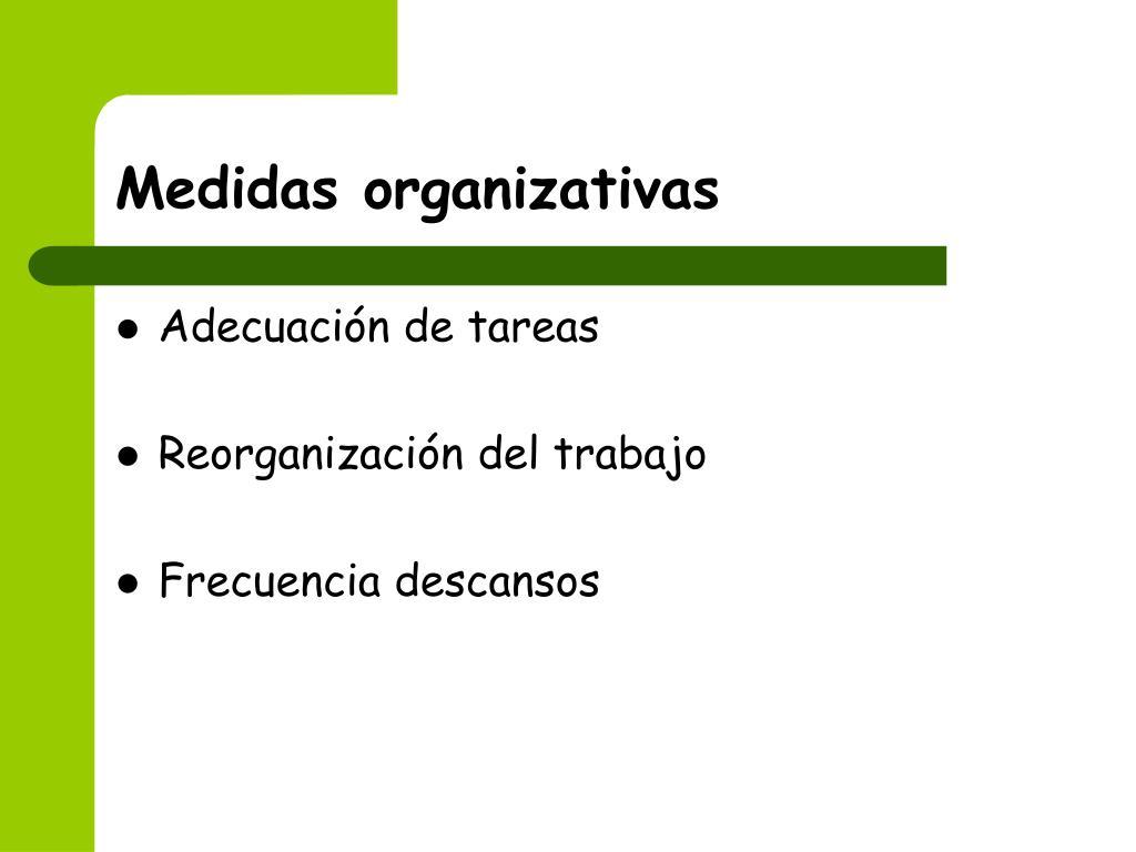 Medidas organizativas