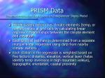 prism data parameter elevation regressions on independent slopes model