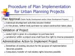 procedure of plan implementation for urban planning projects