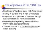 the objectives of the 1968 law
