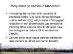 why manage carbon in manitoba