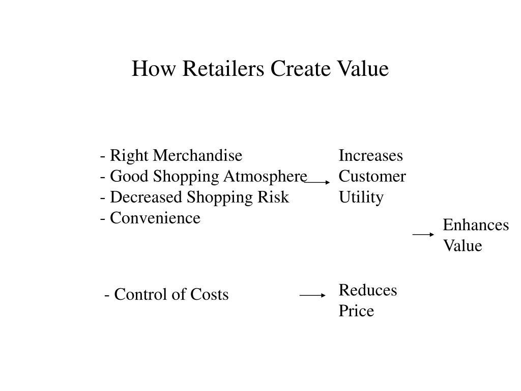how retailers create value l.