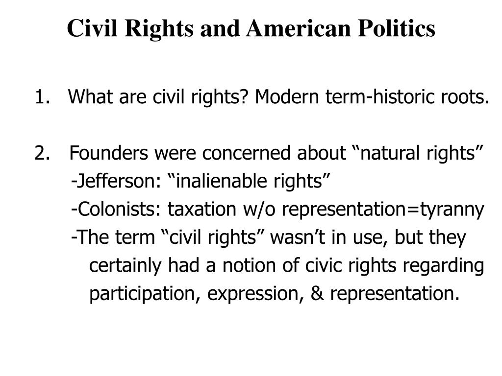 civil rights and american politics l.