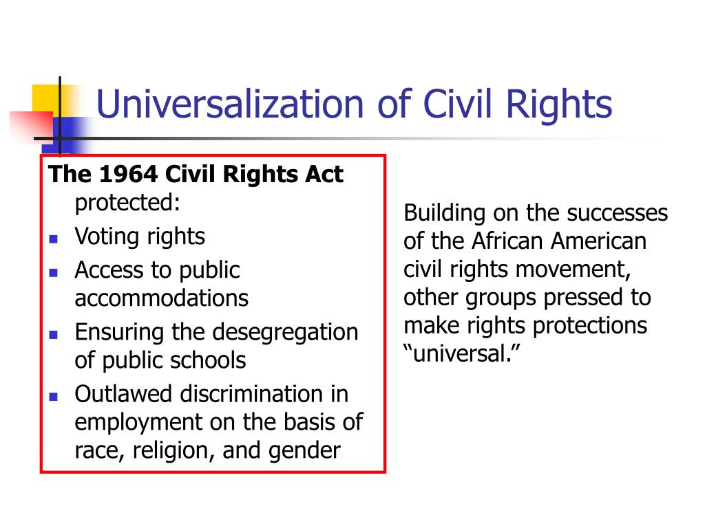 The 1964 Civil Rights Act