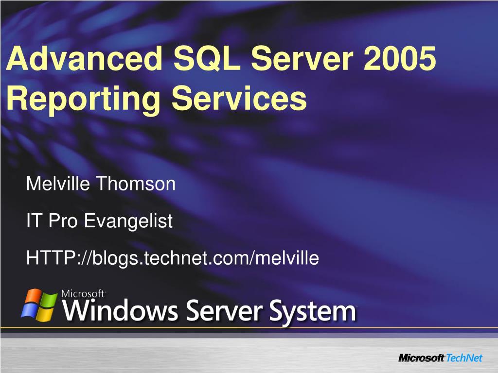 advanced sql server 2005 reporting services l.