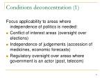 conditions deconcentration 1