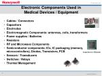 electronic components used in medical devices equipment