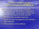 structured local mentorship experience16