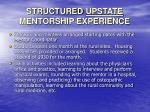 structured upstate mentorship experience19
