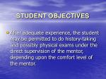 student objectives12