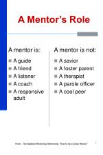 a mentor s role