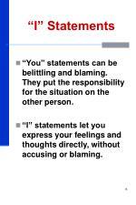 i statements