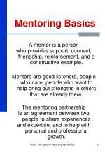 mentoring basics