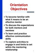 orientation objectives
