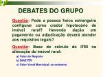 debates do grupo9