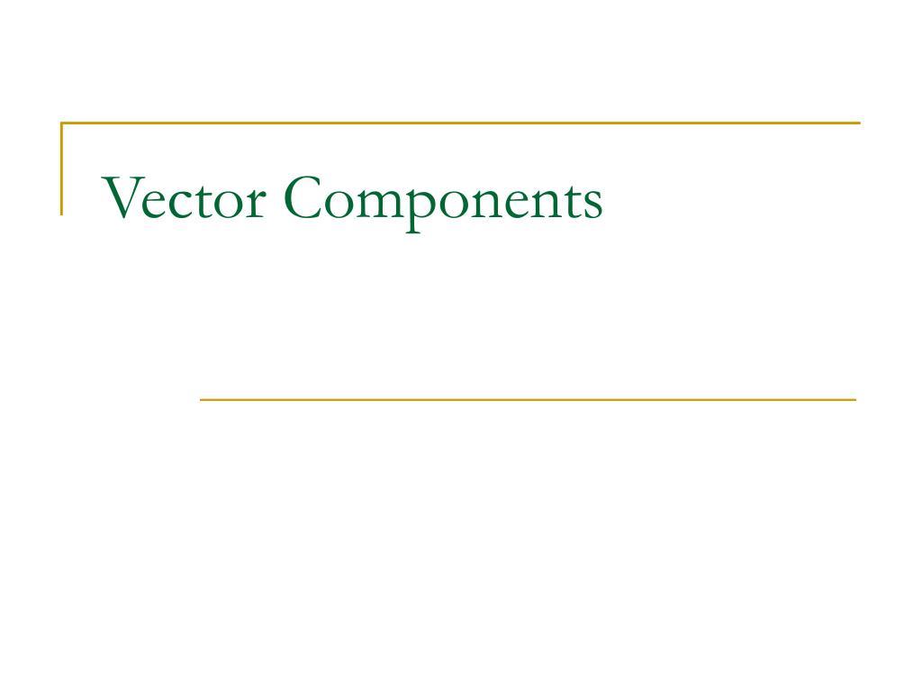 vector components l.