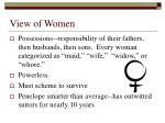 view of women