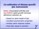 co calibration of disease specific qol instruments
