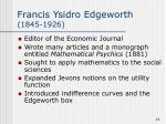 francis ysidro edgeworth 1845 1926