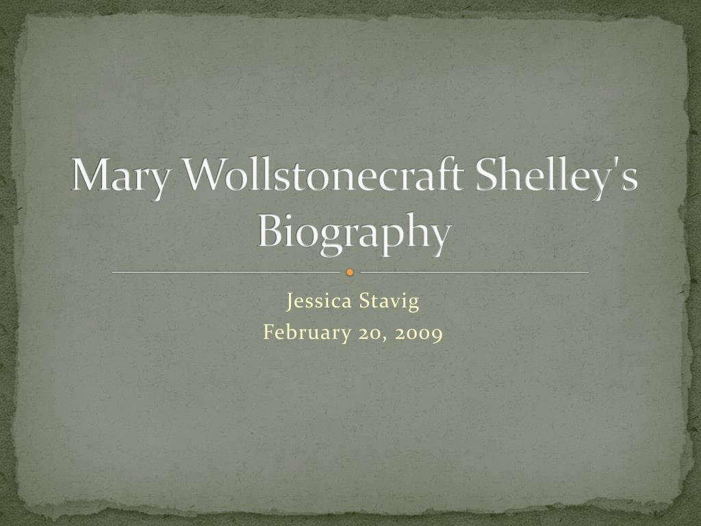 mary wollstonecraft shelley s biography l.