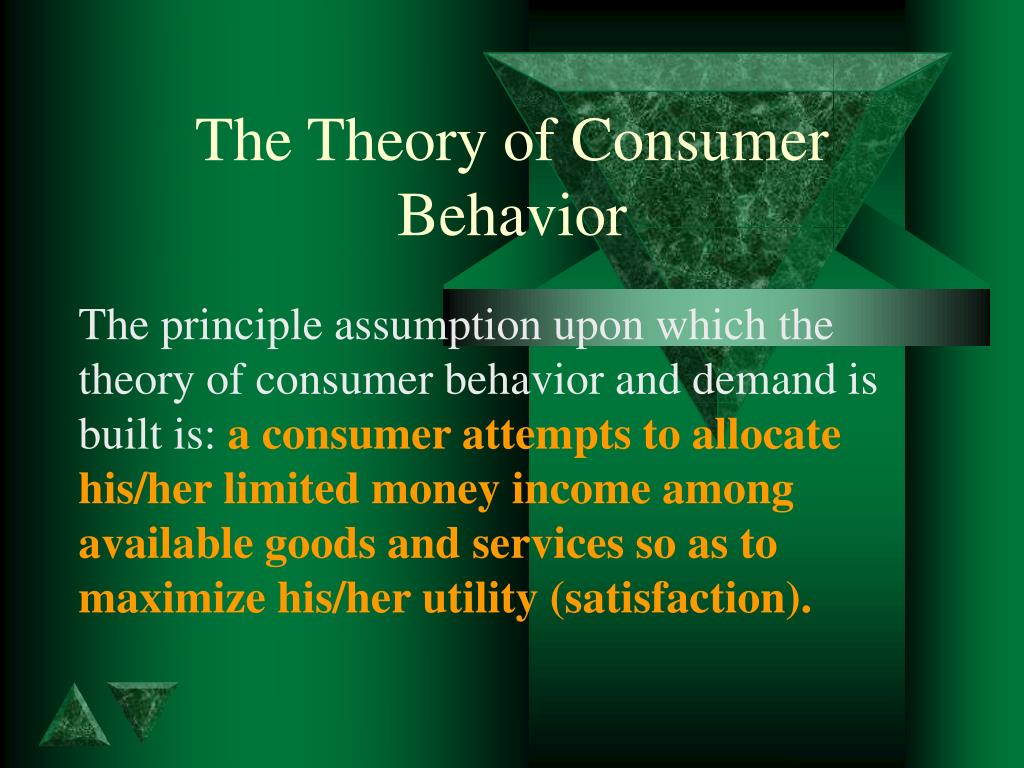 the theory of consumer behavior l.